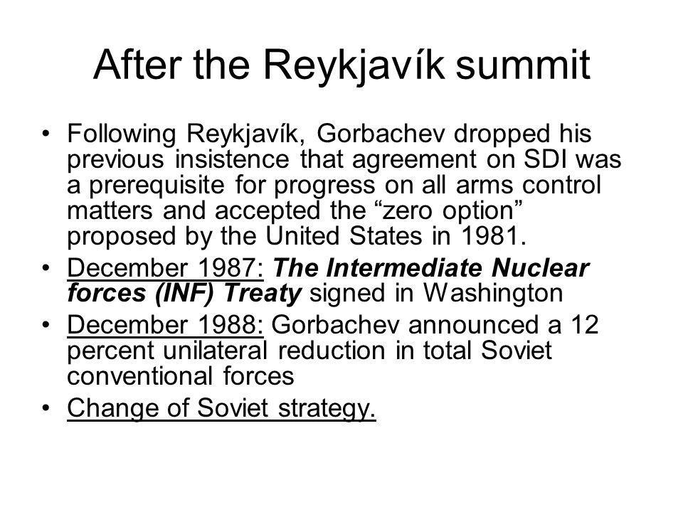 After the Reykjavík summit