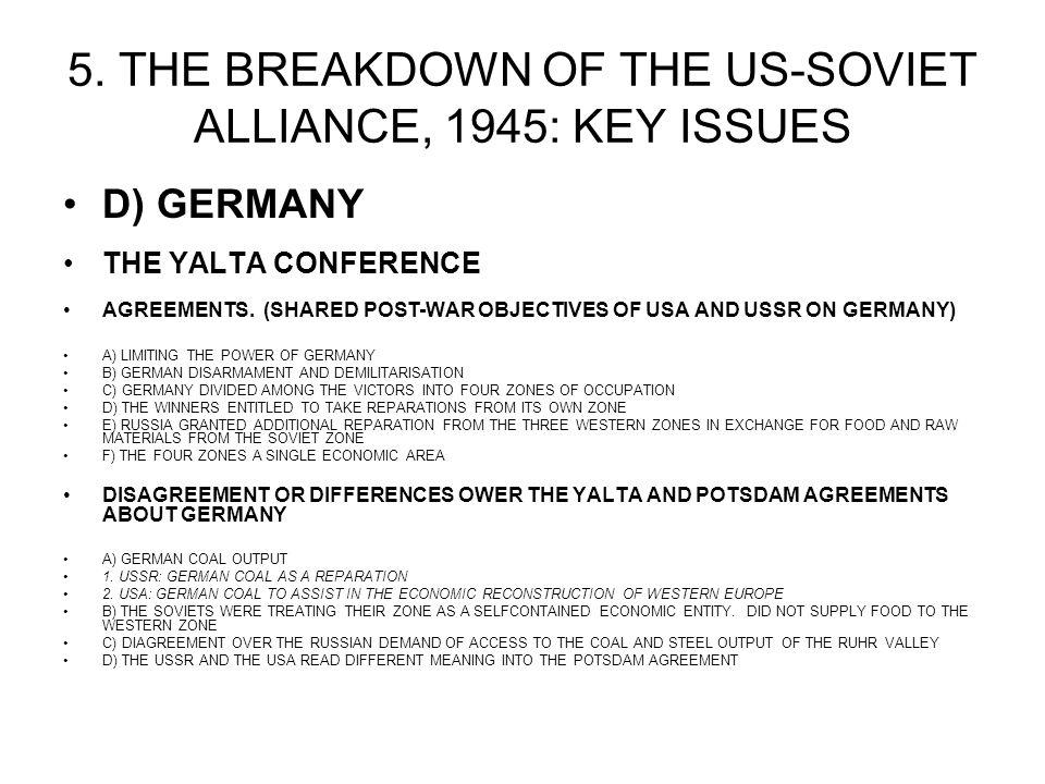 And Extent Did Conferences Yalta And Potsdam 1945 Contribu Homework