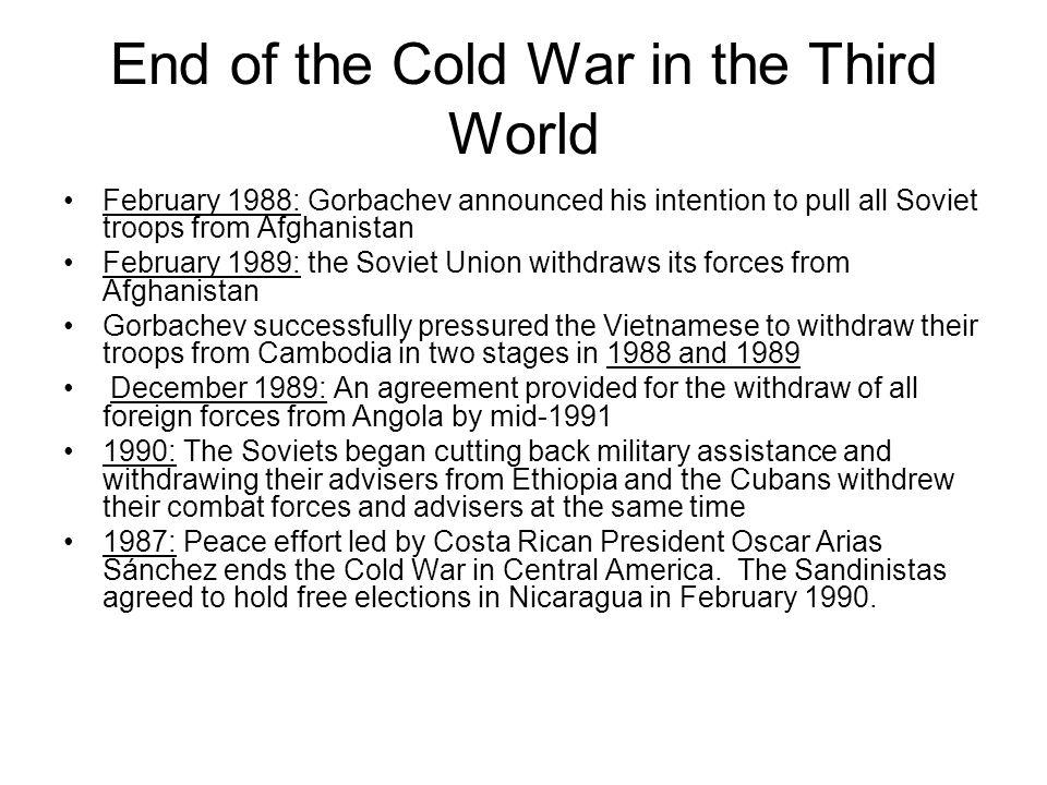 End of the Cold War in the Third World