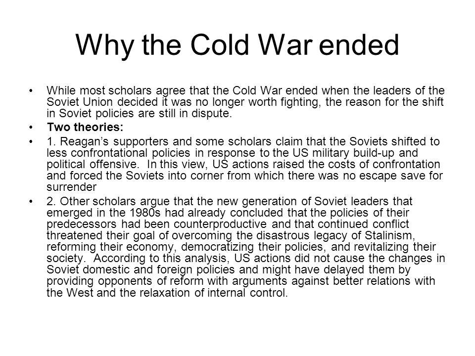 Why the Cold War ended