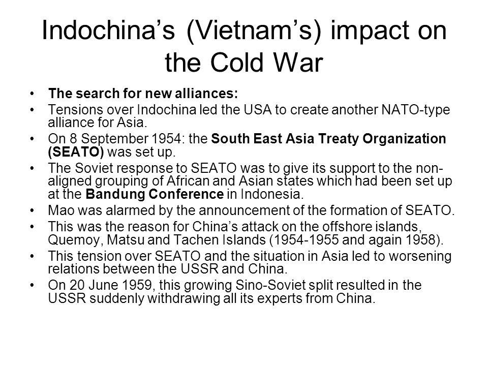Indochina's (Vietnam's) impact on the Cold War
