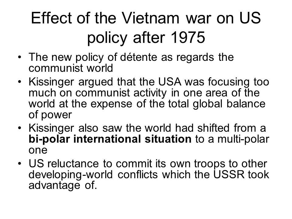 Effect of the Vietnam war on US policy after 1975