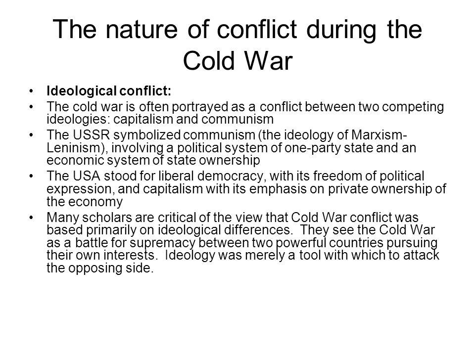 The nature of conflict during the Cold War