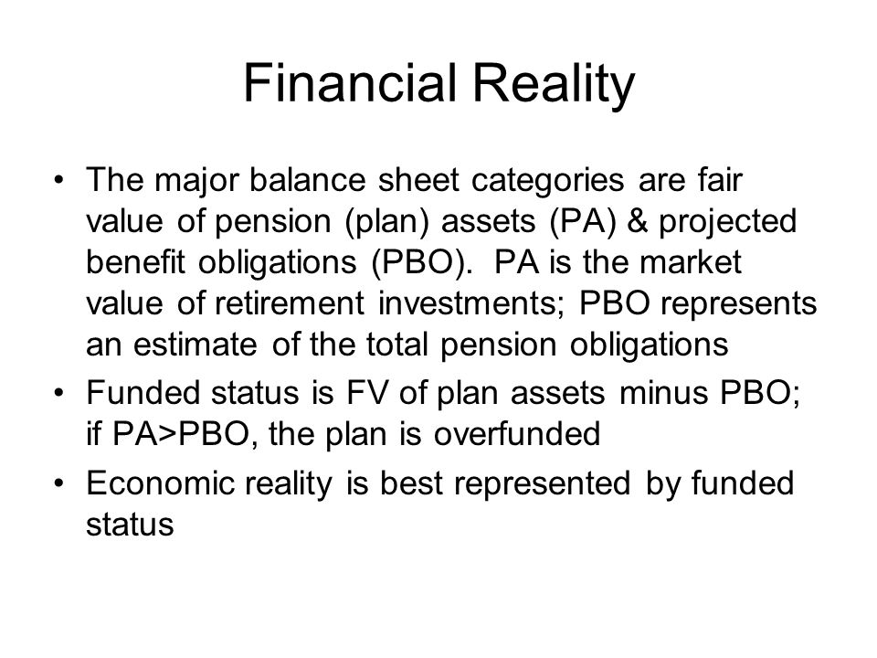 Financial Reality
