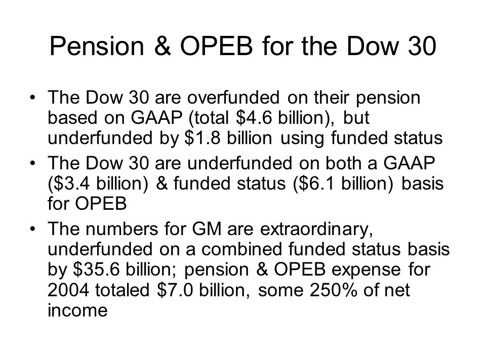 Pension & OPEB for the Dow 30