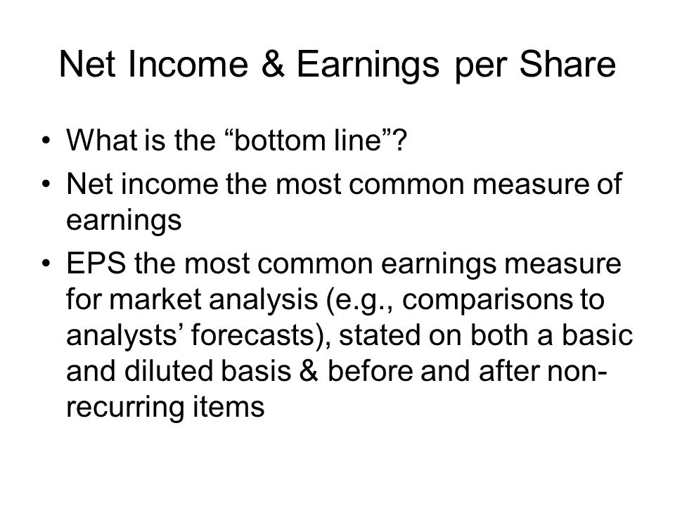 Net Income & Earnings per Share