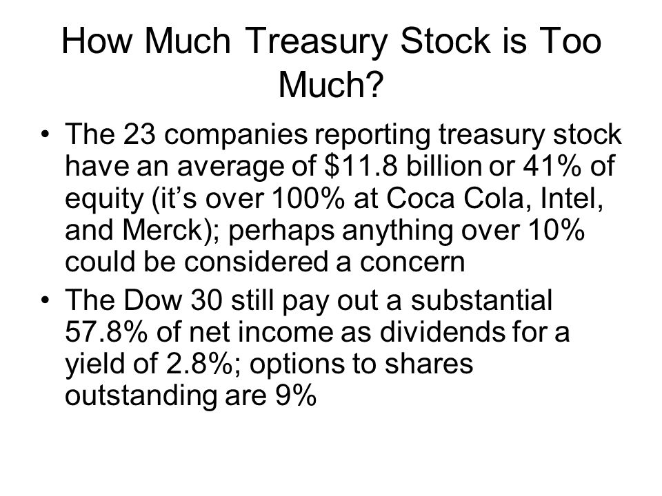 How Much Treasury Stock is Too Much
