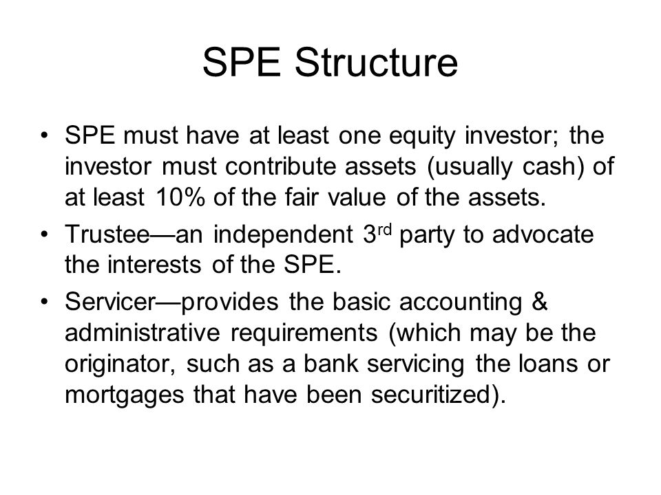 SPE Structure