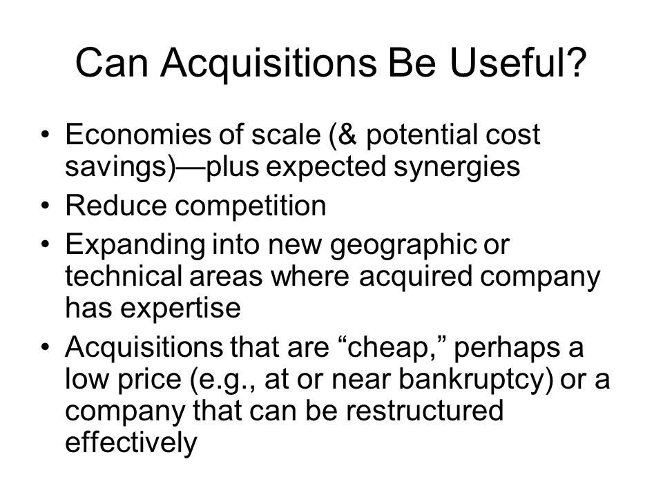 Can Acquisitions Be Useful