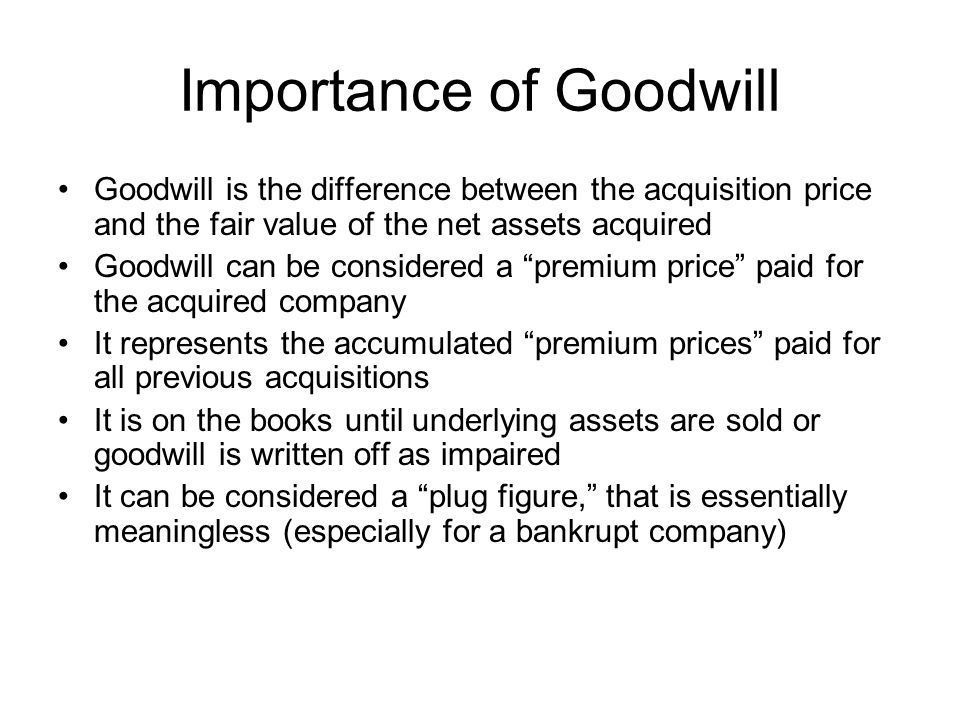 Importance of Goodwill