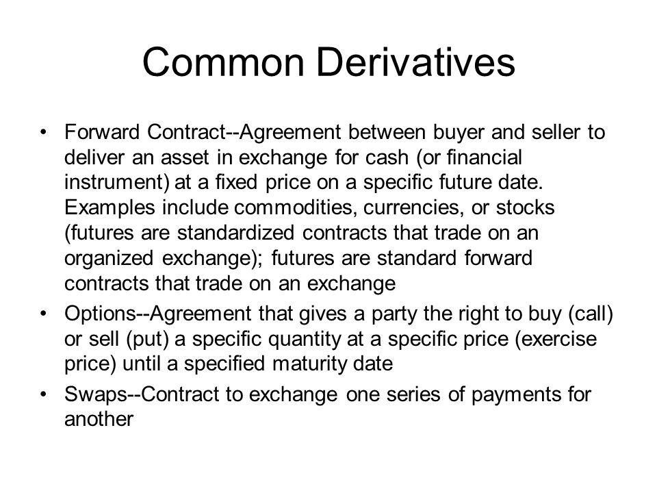 Common Derivatives