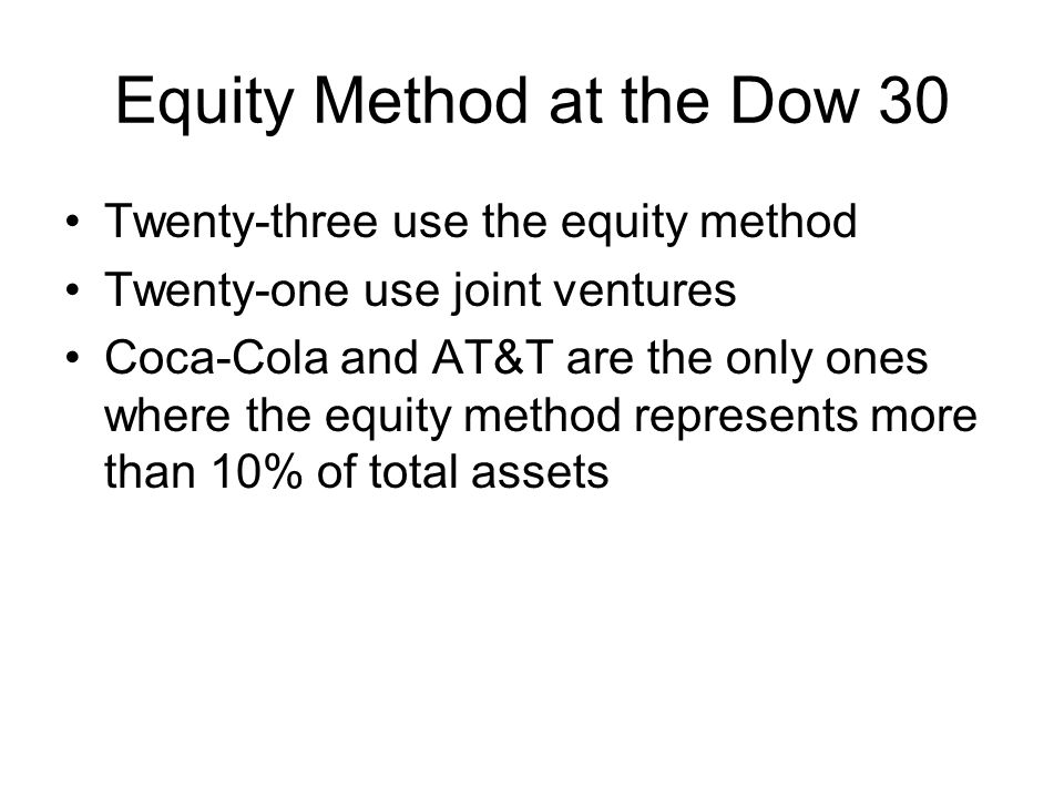 Equity Method at the Dow 30