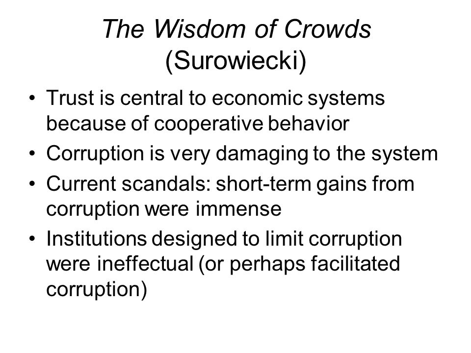 The Wisdom of Crowds (Surowiecki)