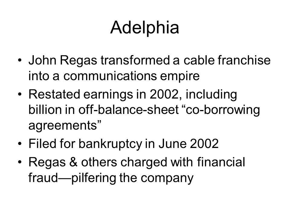 Adelphia John Regas transformed a cable franchise into a communications empire.