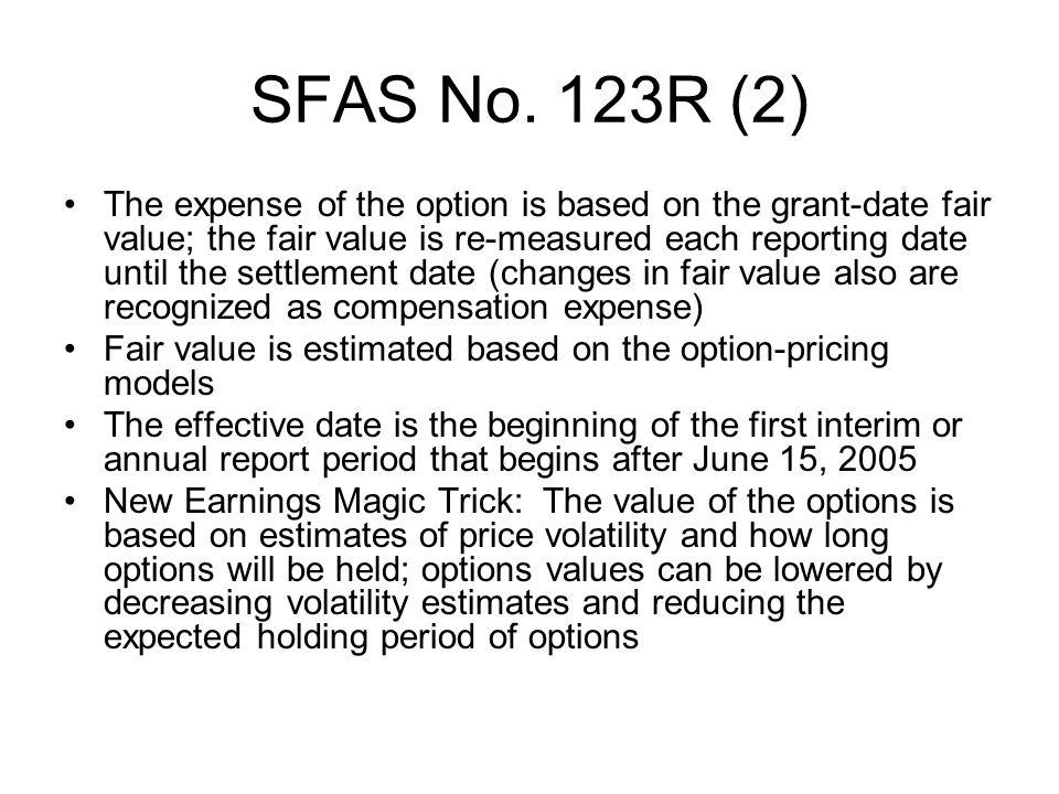 SFAS No. 123R (2)
