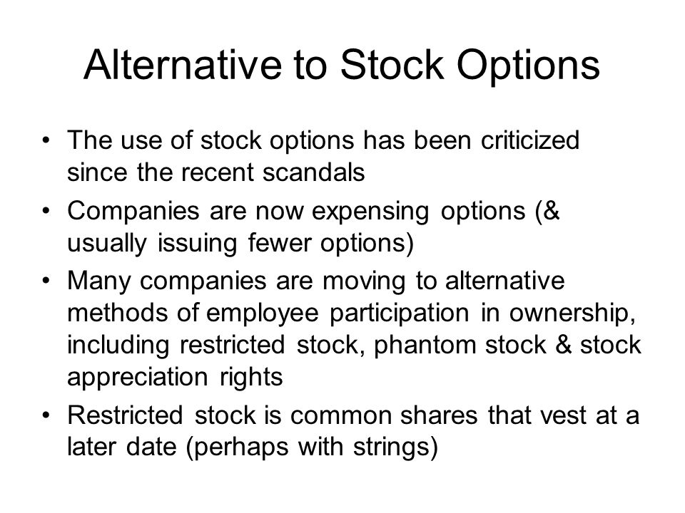 Alternative to Stock Options