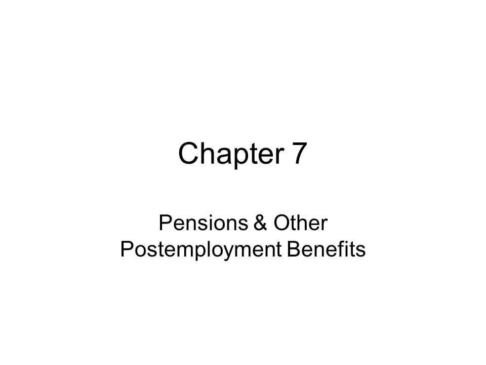 Pensions & Other Postemployment Benefits