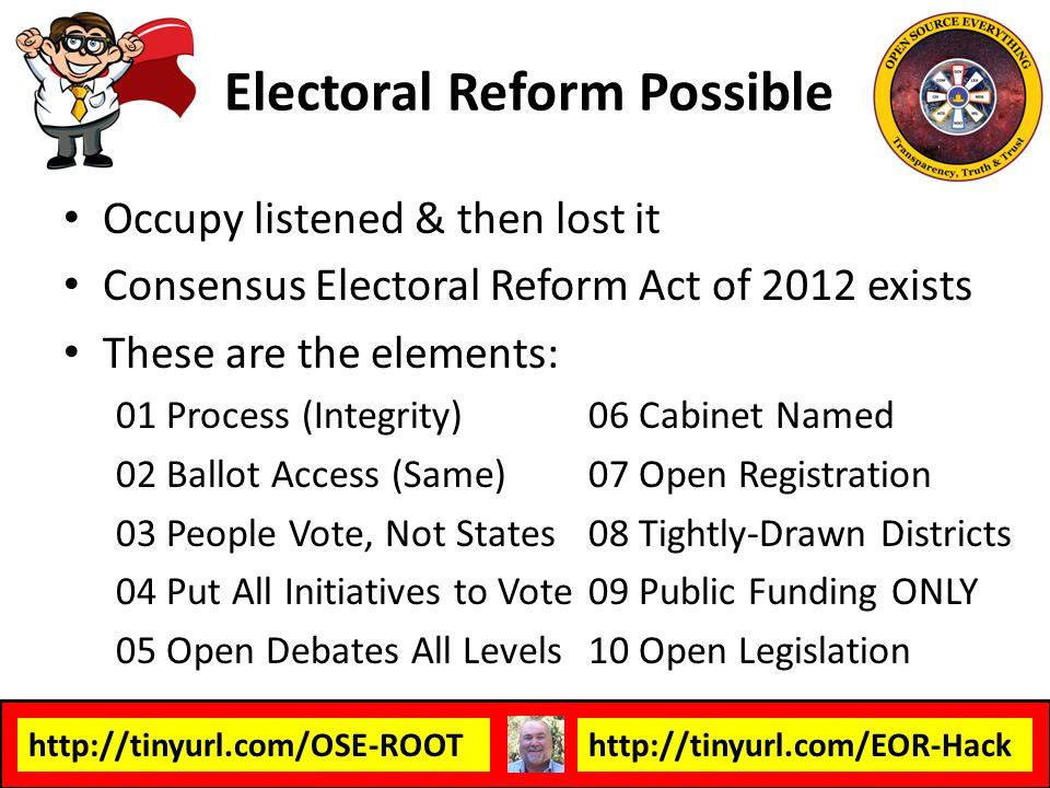Electoral Reform Possible