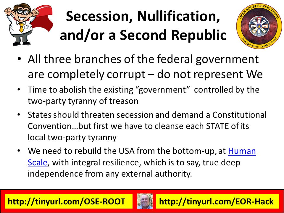 Secession, Nullification, and/or a Second Republic