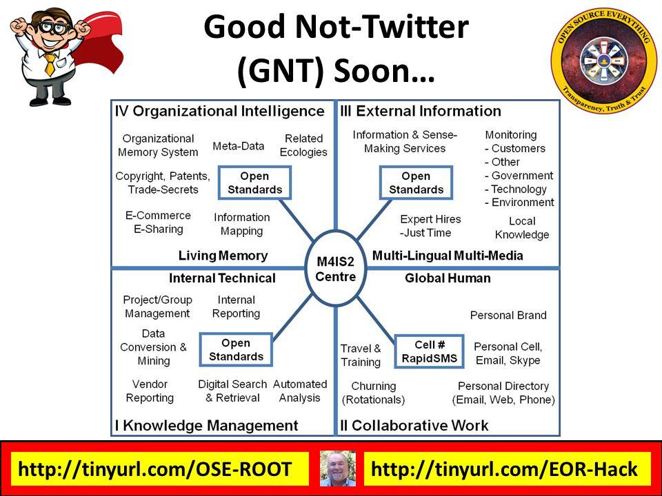 Good Not-Twitter (GNT) Soon…