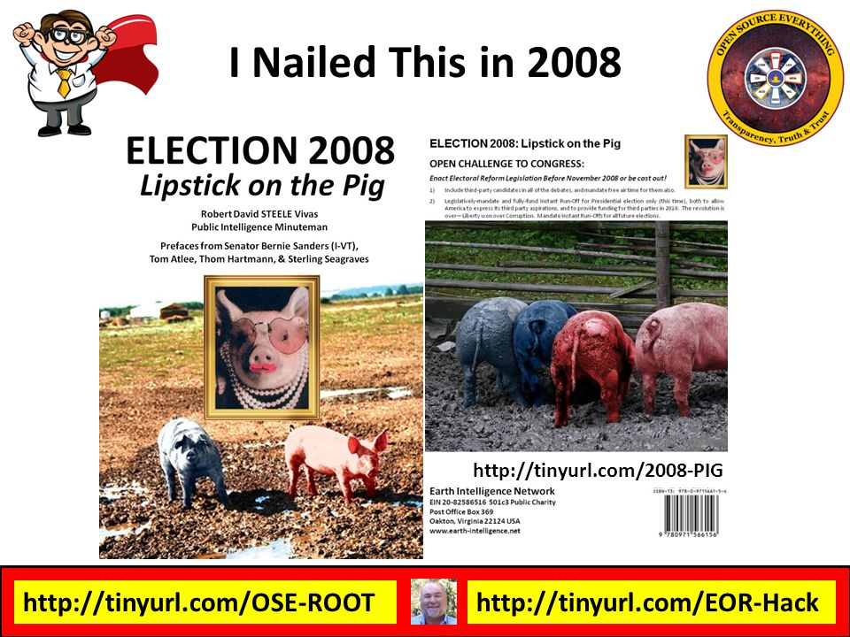 I Nailed This in 2008 http://tinyurl.com/2008-PIG