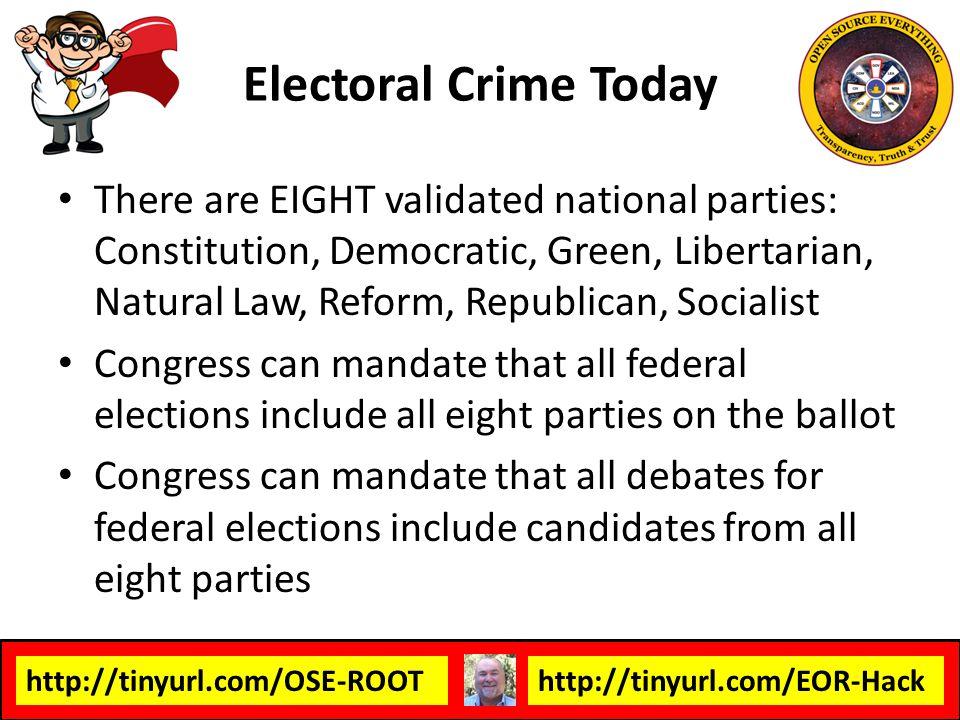 Electoral Crime Today
