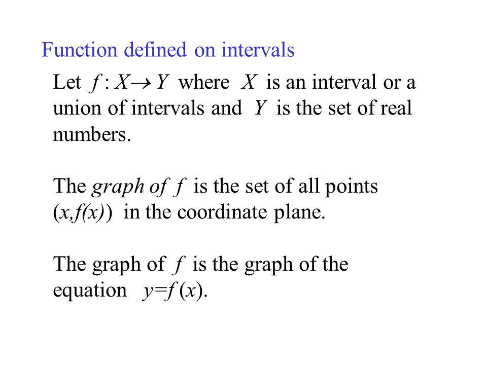 Function defined on intervals