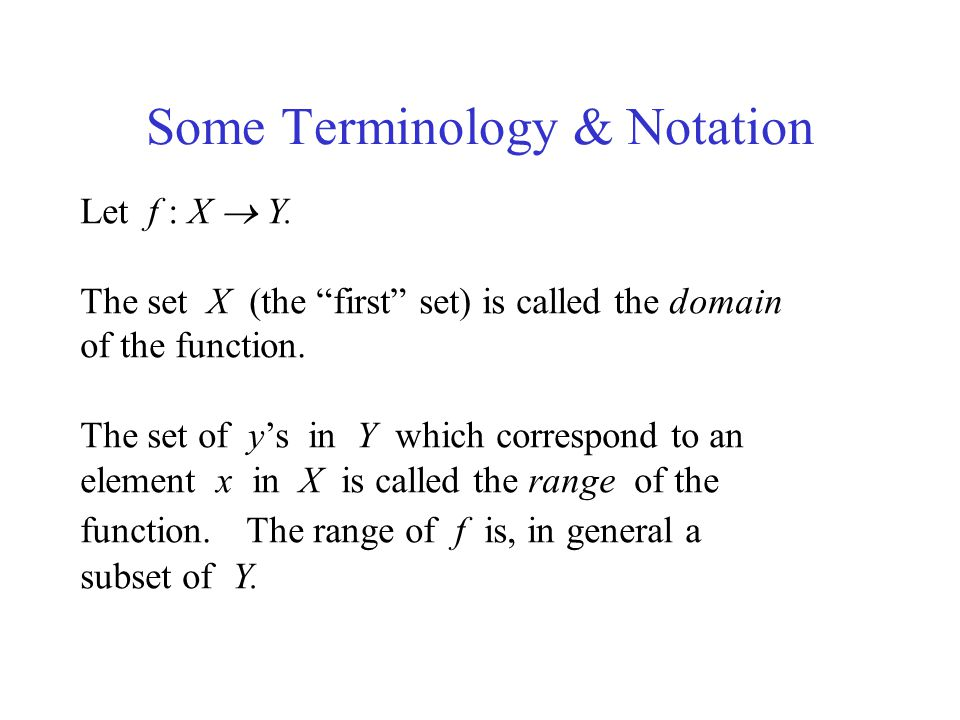 Some Terminology & Notation