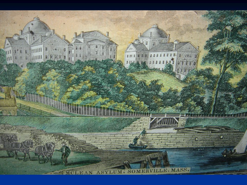 The old McLean Asylum as it appeared in the mid-1800s