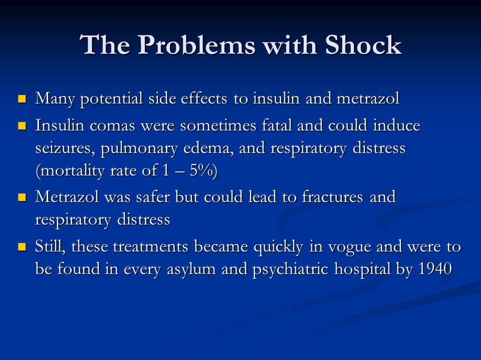 The Problems with Shock