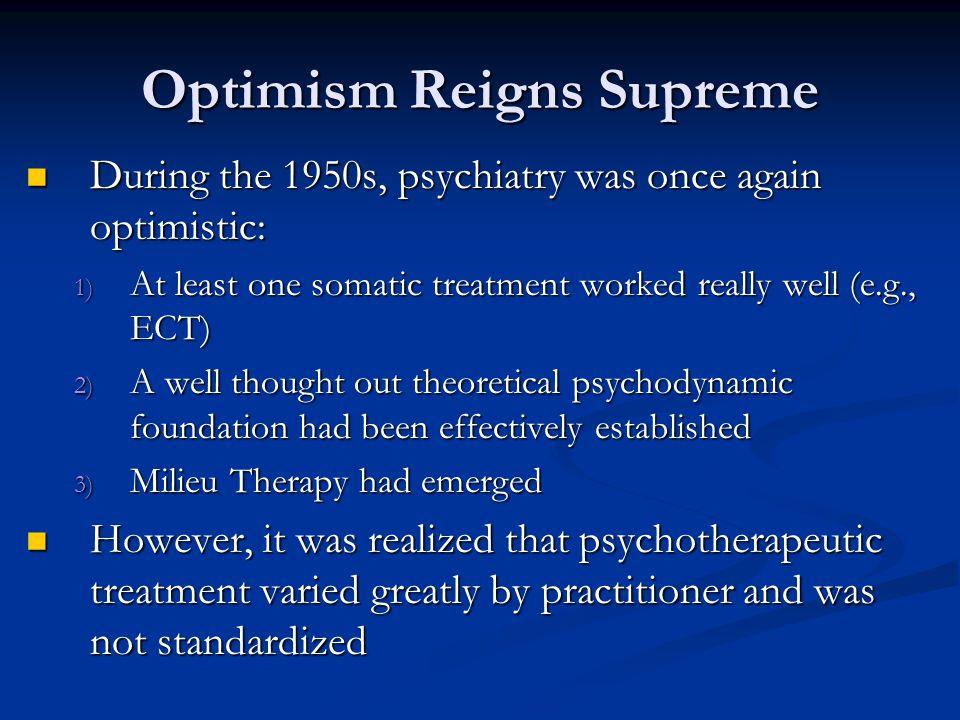 Optimism Reigns Supreme