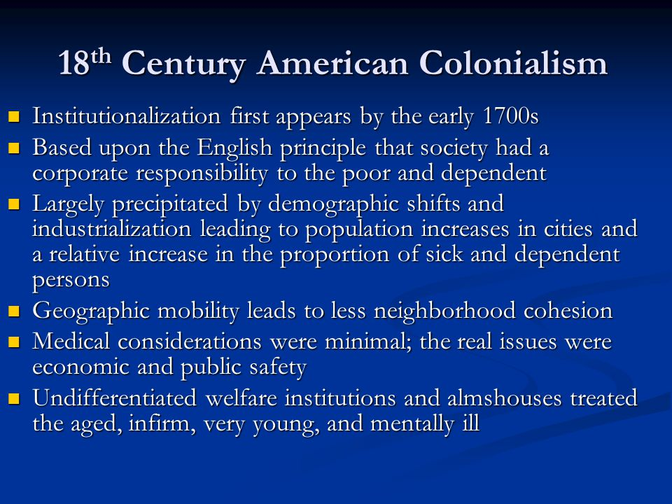 18th Century American Colonialism
