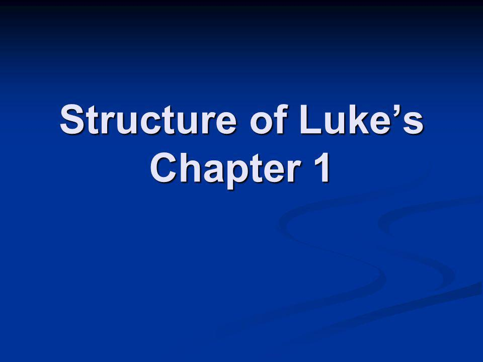 Structure of Luke's Chapter 1
