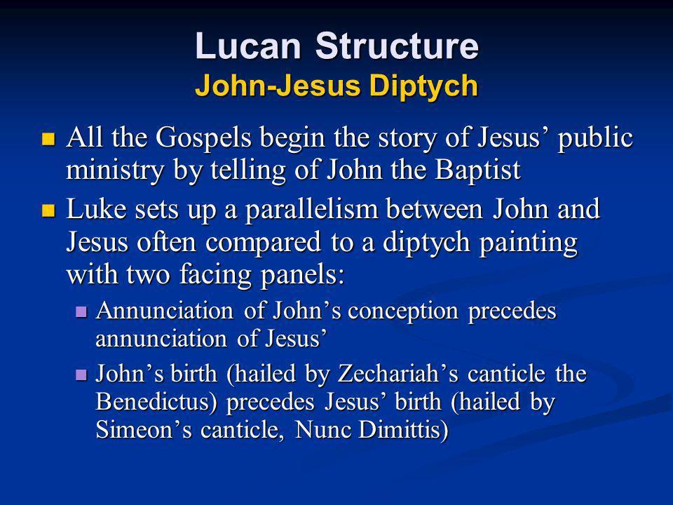 Lucan Structure John-Jesus Diptych