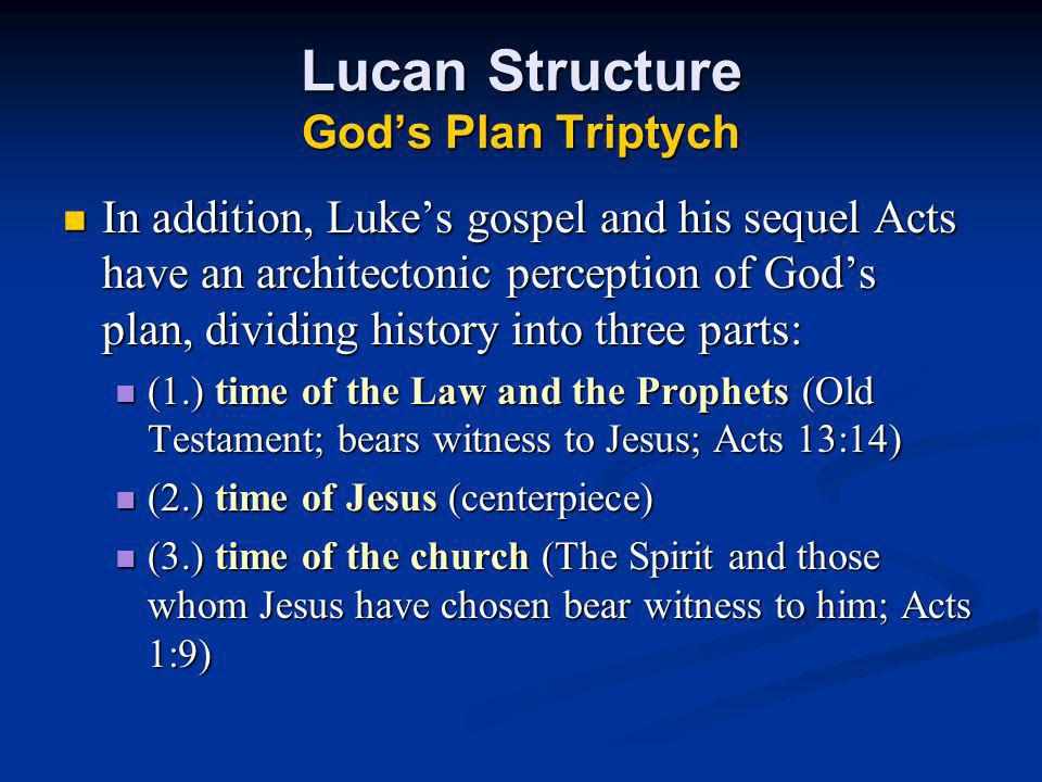 Lucan Structure God's Plan Triptych
