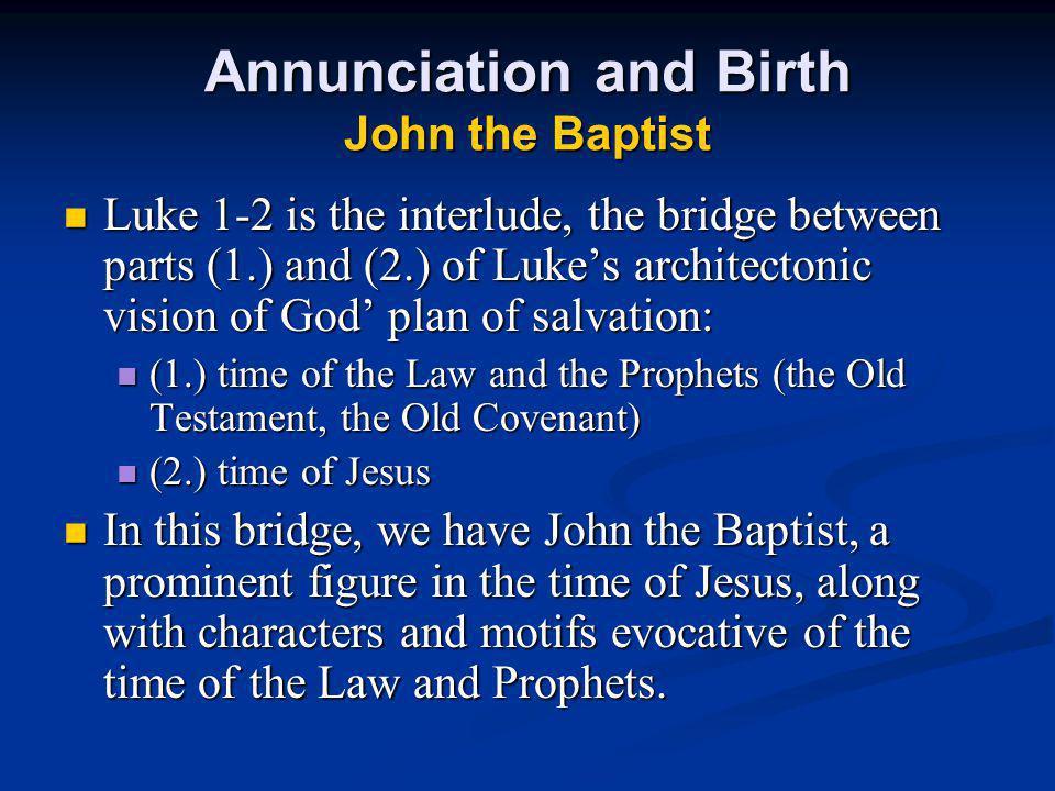 Annunciation and Birth John the Baptist