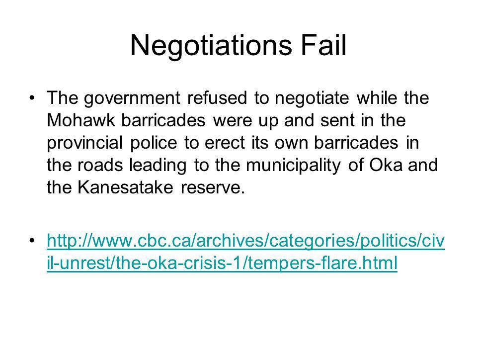 Negotiations Fail