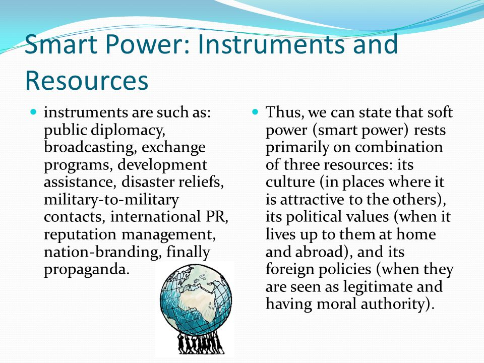 Smart Power: Instruments and Resources