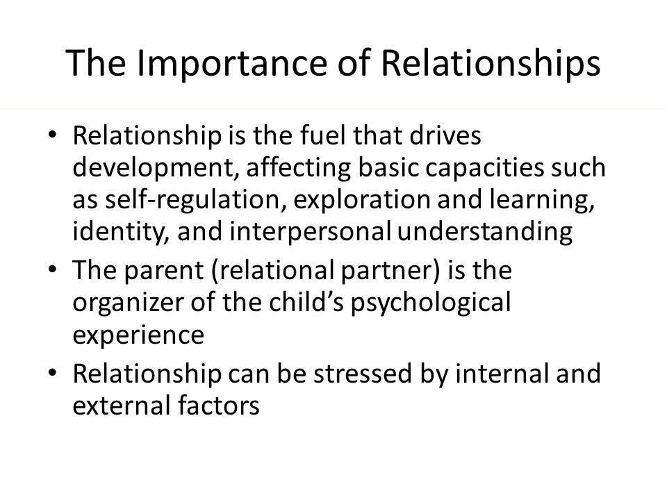 The Importance of Healthy Relationships