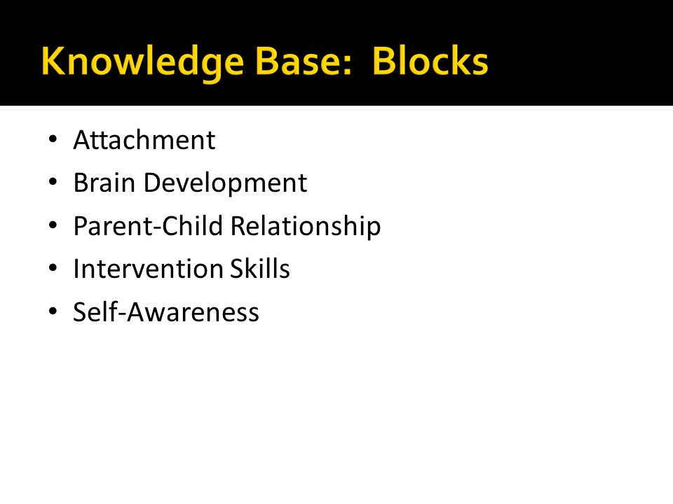 Attachment Brain Development Parent-Child Relationship Intervention Skills Self-Awareness