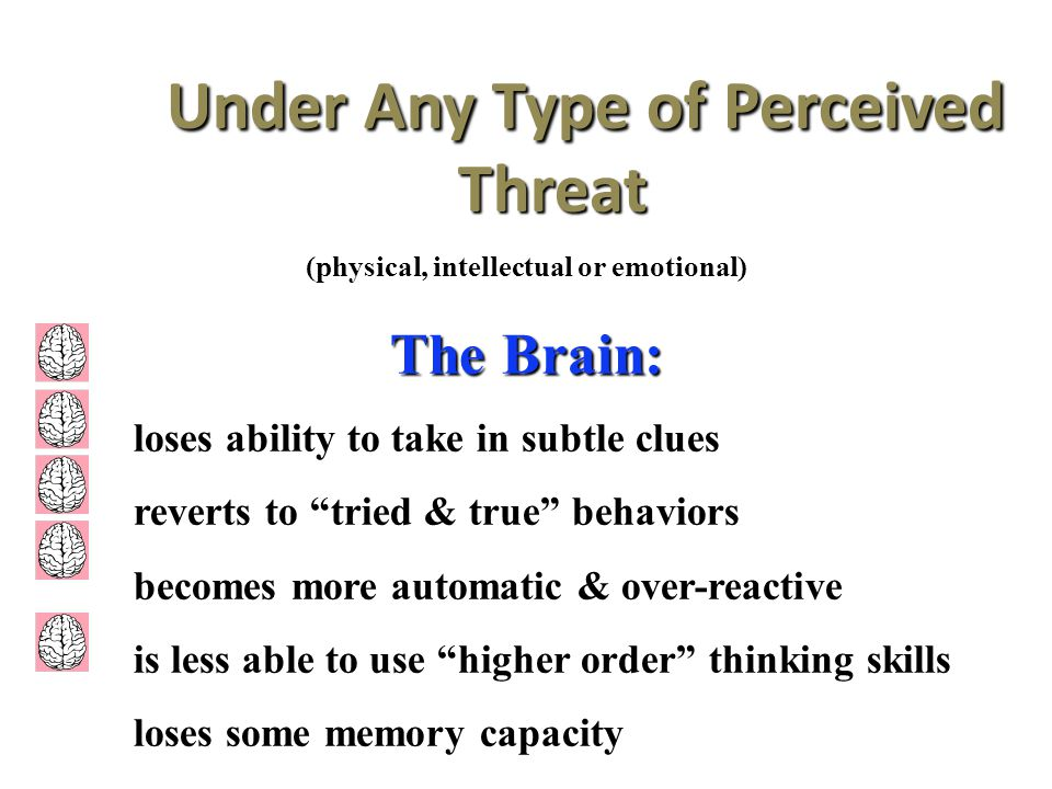Under Any Type of Perceived Threat