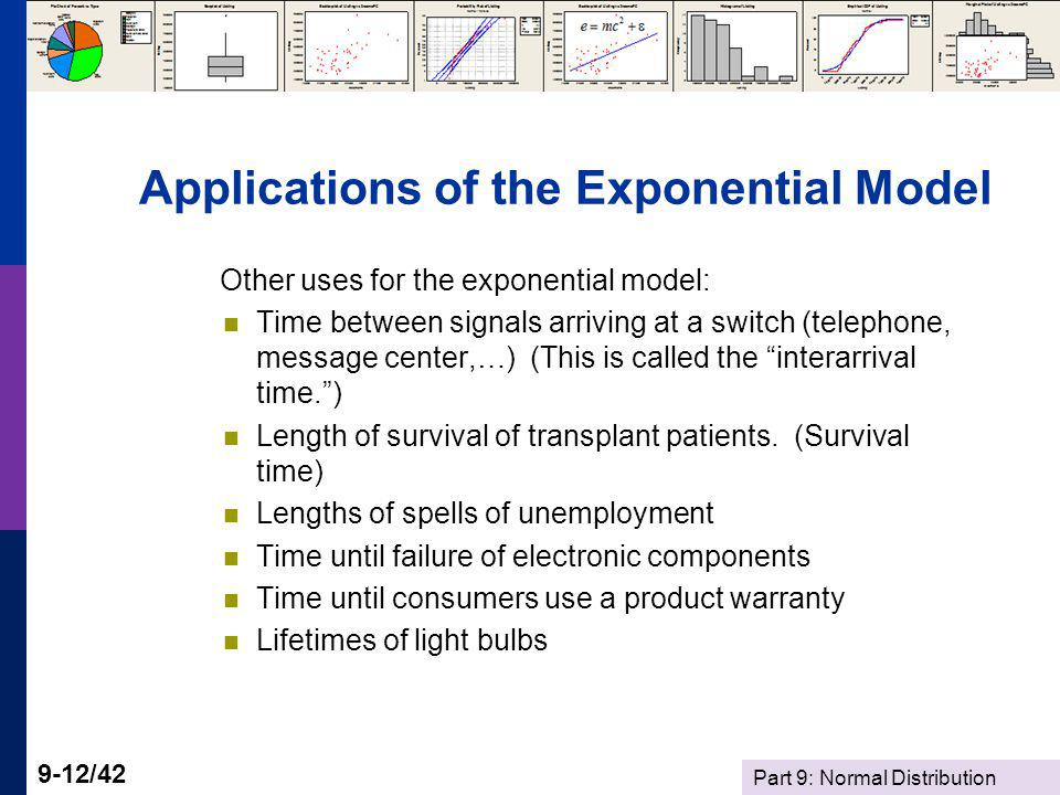 Applications of the Exponential Model