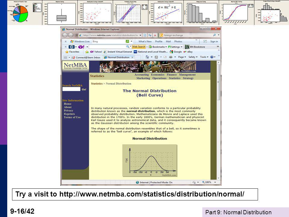 Try a visit to http://www.netmba.com/statistics/distribution/normal/