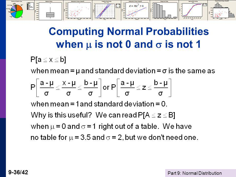 Computing Normal Probabilities when  is not 0 and  is not 1
