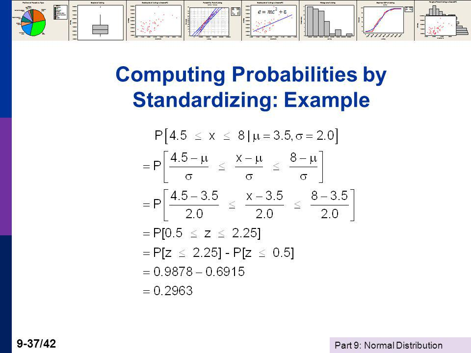 Computing Probabilities by Standardizing: Example