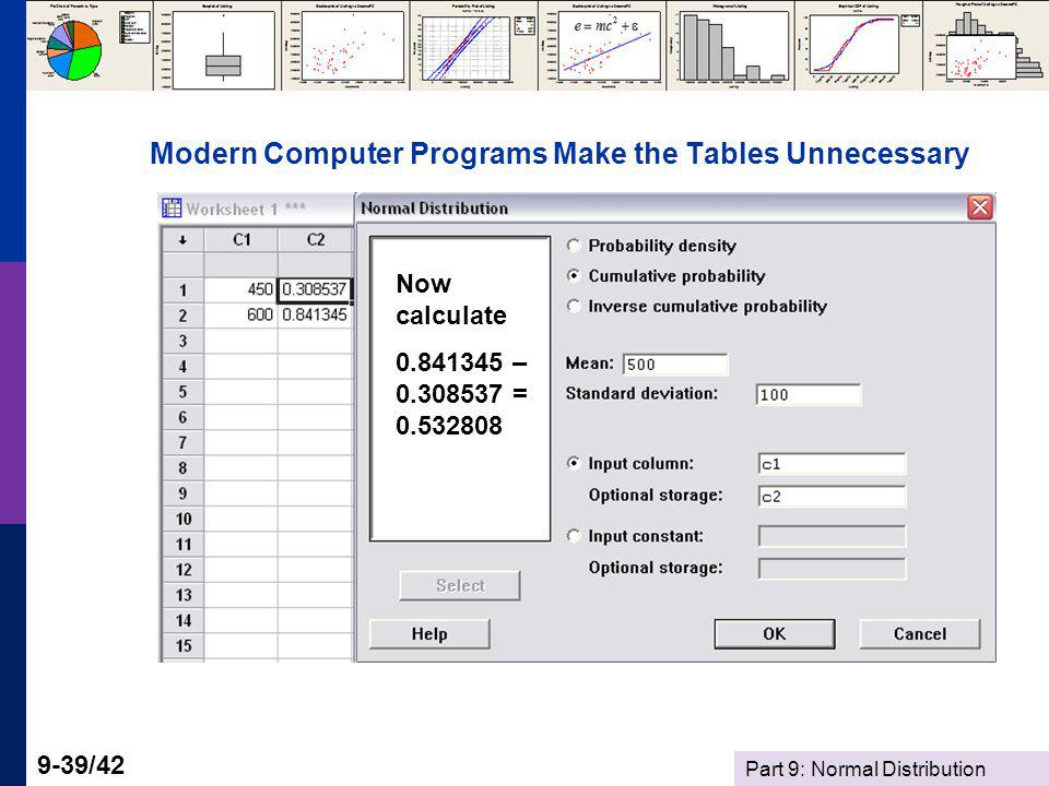 Modern Computer Programs Make the Tables Unnecessary