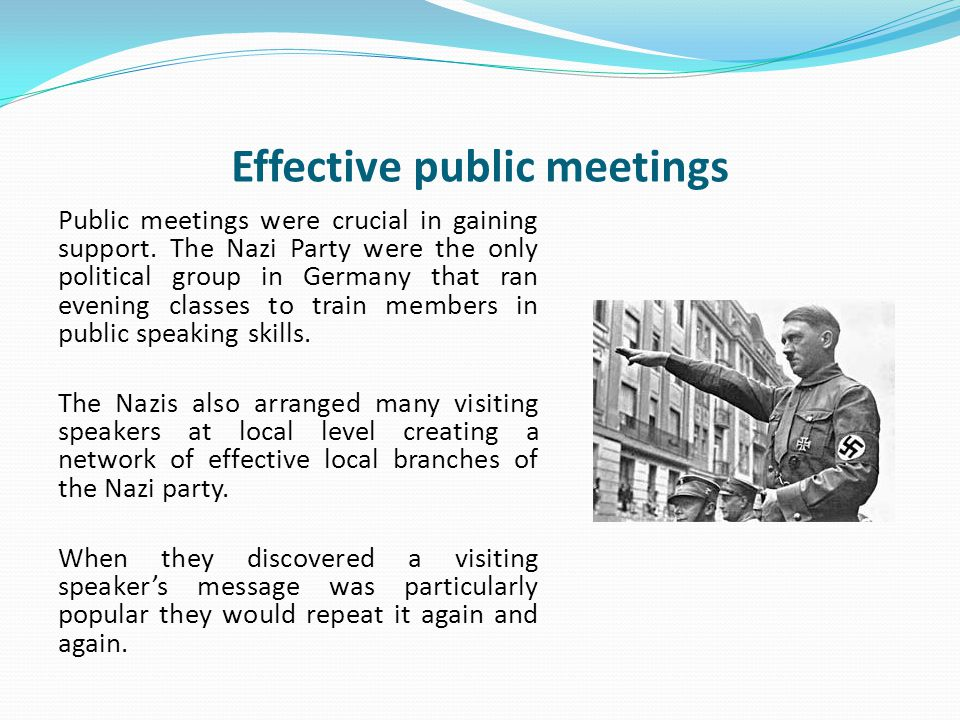 Effective public meetings