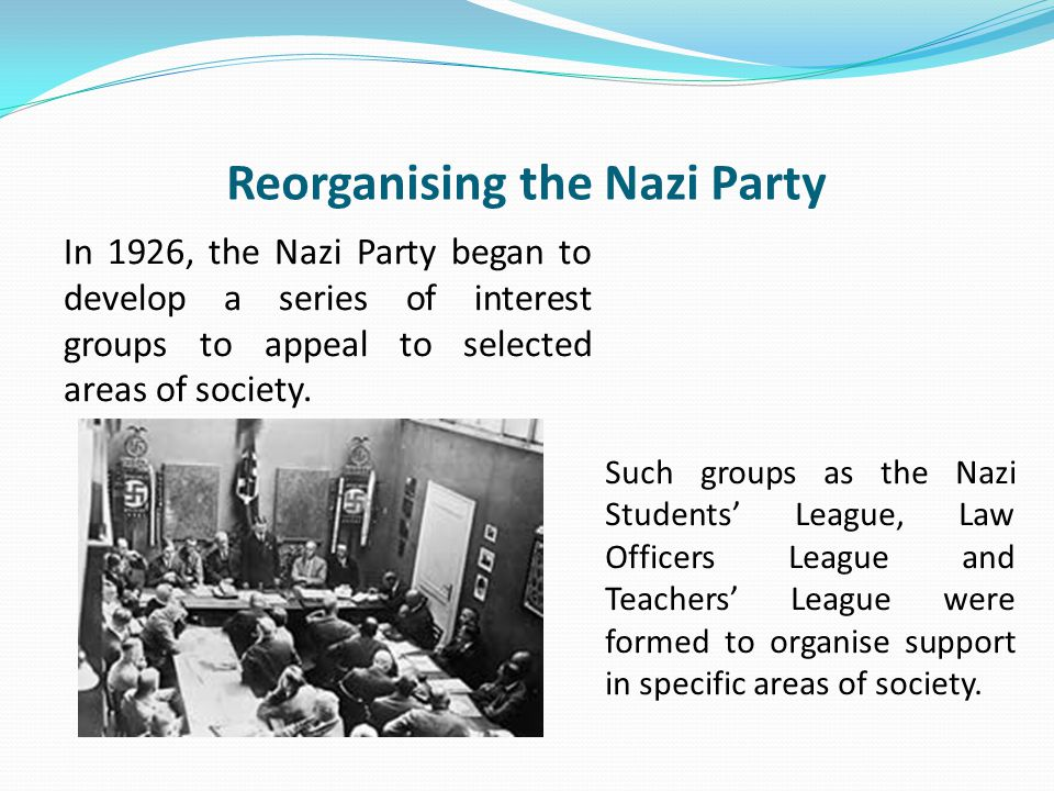 Reorganising the Nazi Party