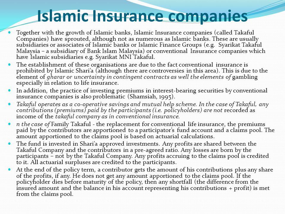 Islamic Insurance companies