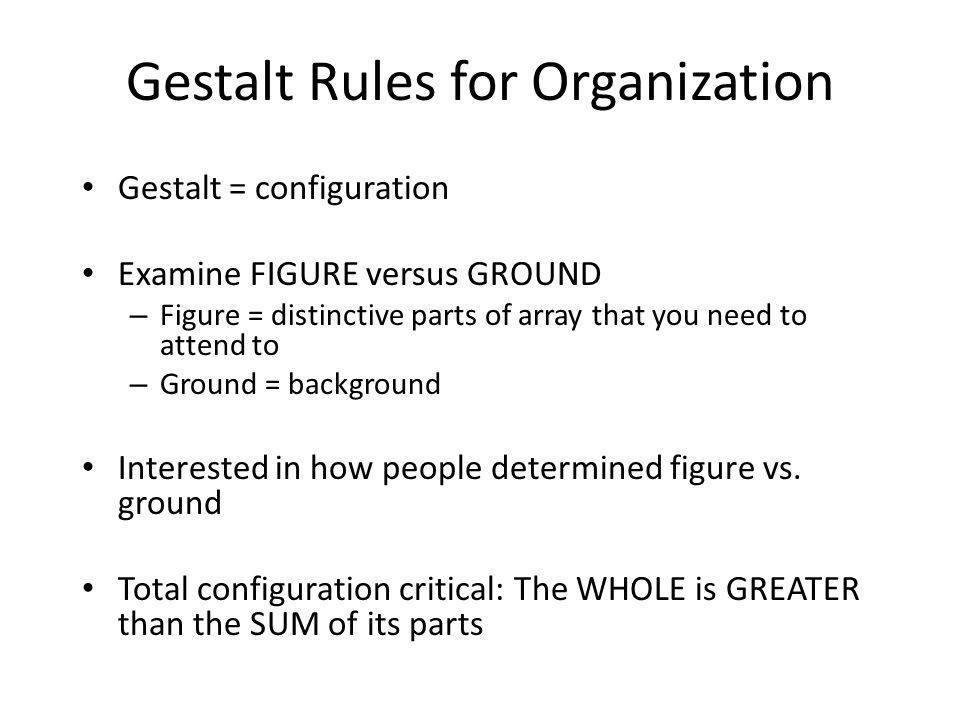 Gestalt Rules for Organization